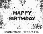 happy birthday greeting card... | Shutterstock . vector #494276146