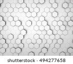 hexagonal white abstract... | Shutterstock . vector #494277658