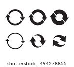 update icons set  black on a... | Shutterstock .eps vector #494278855