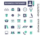 business plan strategy icons | Shutterstock .eps vector #494287072