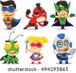 Children In Fun Superhero...