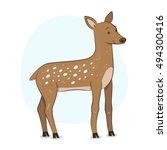 cute deer illustration | Shutterstock .eps vector #494300416