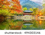 baekyangsa temple in autumn... | Shutterstock . vector #494303146