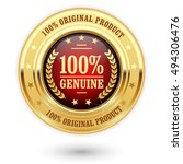 100 percent genuine product  ... | Shutterstock .eps vector #494306476