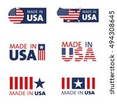 vector set of made in the usa... | Shutterstock .eps vector #494308645