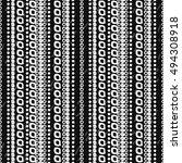 geometric monochrome seamless... | Shutterstock .eps vector #494308918
