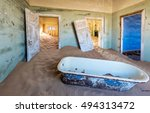 abandoned building being taken... | Shutterstock . vector #494313472