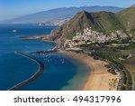 sunny day in teresitas beach.... | Shutterstock . vector #494317996