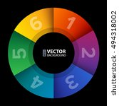 abstract infographic rainbow...   Shutterstock .eps vector #494318002
