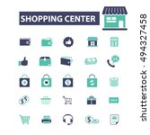 shopping center icons | Shutterstock .eps vector #494327458