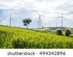 power generation wind turbine... | Shutterstock . vector #494342896