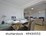 modern living room with glass...   Shutterstock . vector #49434553