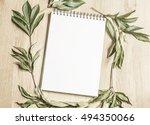 mockup of a sketchbook  | Shutterstock . vector #494350066