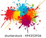 vector colorful background design. illustration vector design | Shutterstock vector #494353936