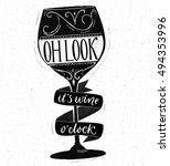 Oh Look  It's Wine O'clock....