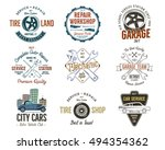 vintage car service badges ... | Shutterstock .eps vector #494354362