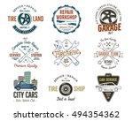 vintage car service badges ... | Shutterstock .eps vector #494354362