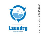 laundry wash clean logo icon... | Shutterstock .eps vector #494358466