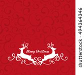 ornamental christmas card with... | Shutterstock .eps vector #494364346