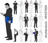 business men group set 02 | Shutterstock .eps vector #49437004