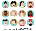 people face call center | Shutterstock .eps vector #494372146