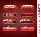 christmas web buttons set.... | Shutterstock .eps vector #494378092