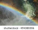 Rainbow Over The Waterfall. Bi...