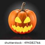 halloween pumpkin 3d rendering | Shutterstock . vector #494382766