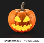 halloween pumpkin 3d rendering | Shutterstock . vector #494382832