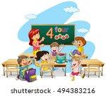 Teacher Teaching Students In...