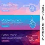 poster design for event  online ... | Shutterstock .eps vector #494390062