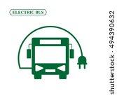 electric bus vector icon | Shutterstock .eps vector #494390632