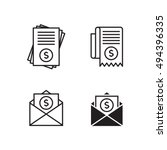 bill icons set  black on a... | Shutterstock .eps vector #494396335