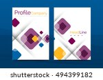 business a4 annual report... | Shutterstock .eps vector #494399182
