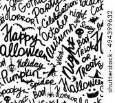 halloween seamless pattern for... | Shutterstock .eps vector #494399632