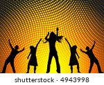 happy people dancing at a party | Shutterstock .eps vector #4943998