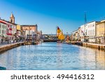 boats on the harbor of... | Shutterstock . vector #494416312