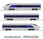 passenger express train.... | Shutterstock .eps vector #494416366