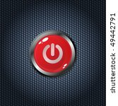 red power button on carbon... | Shutterstock .eps vector #49442791