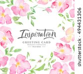 watercolor wild roses   floral... | Shutterstock . vector #494431306