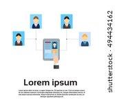 curriculum vitae on tablet... | Shutterstock .eps vector #494434162
