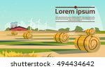 agriculture and farming  field... | Shutterstock .eps vector #494434642