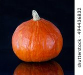 pumpkin on black   Shutterstock . vector #494436832