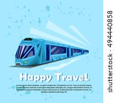 happy travel banner modern... | Shutterstock .eps vector #494440858