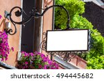 classic style blank outdoor... | Shutterstock . vector #494445682