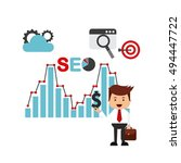 search engine optimization flat ... | Shutterstock .eps vector #494447722