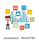 search engine optimization flat ...   Shutterstock .eps vector #494447785