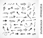 hand drawn arrows  vector set | Shutterstock .eps vector #494461816