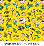 seamless pattern with fashion... | Shutterstock .eps vector #494465872