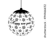 decorative black white... | Shutterstock .eps vector #494466652